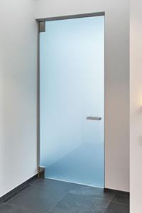 Binnendeur in melkglas